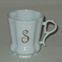 Floral Monogram Fancy Mug