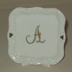 Floral Monogram Pin Tray or Coaster