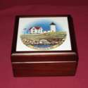 USA Coastal Lighthouse Wooden Box