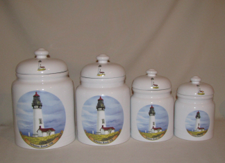 USA Coastal Lighthouse Canister Set