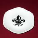 Fleur de Lis Scroll Edge Coaster