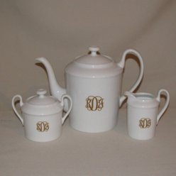 Monogrammed Tea Set, 3pc.
