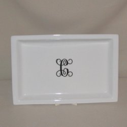Monogrammed Tray