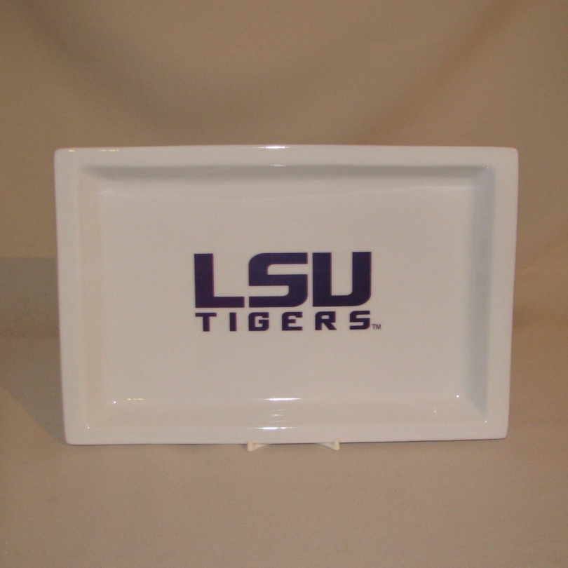 LSU Rectangular Tray, 12