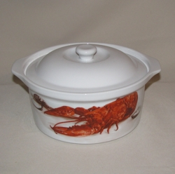 Crawfish / Lobster Round Casserole, 1 1/2qt.