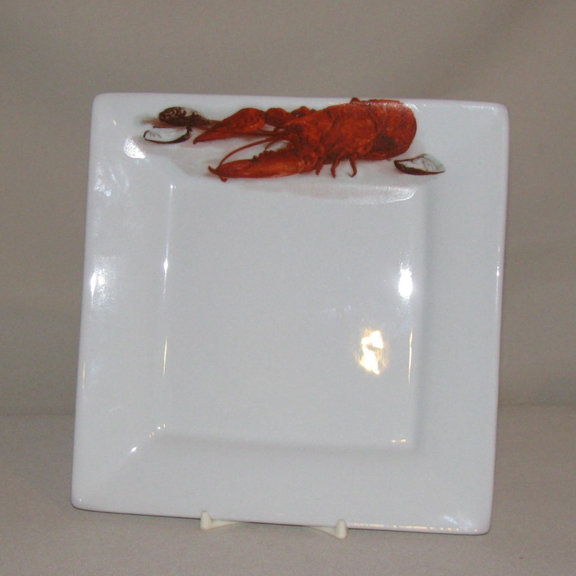 Crawfish / Lobster Square Plate, 7 3/8