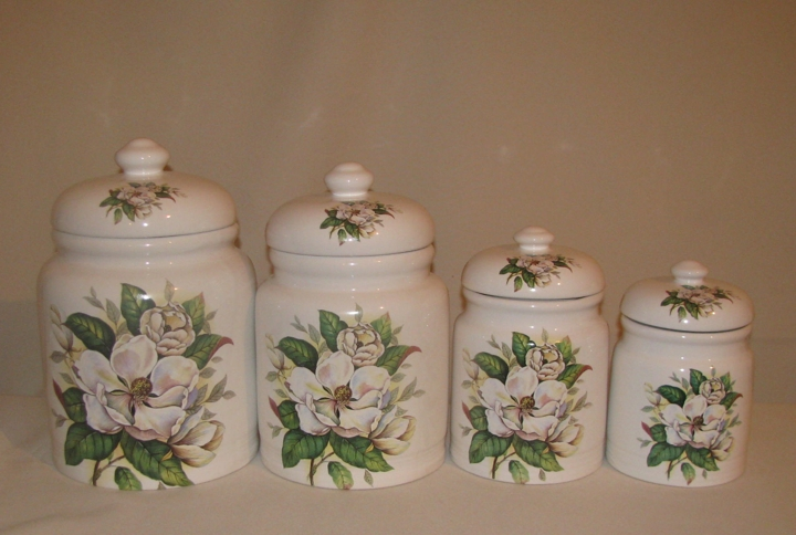 Magnolia Canister Set, 4pc