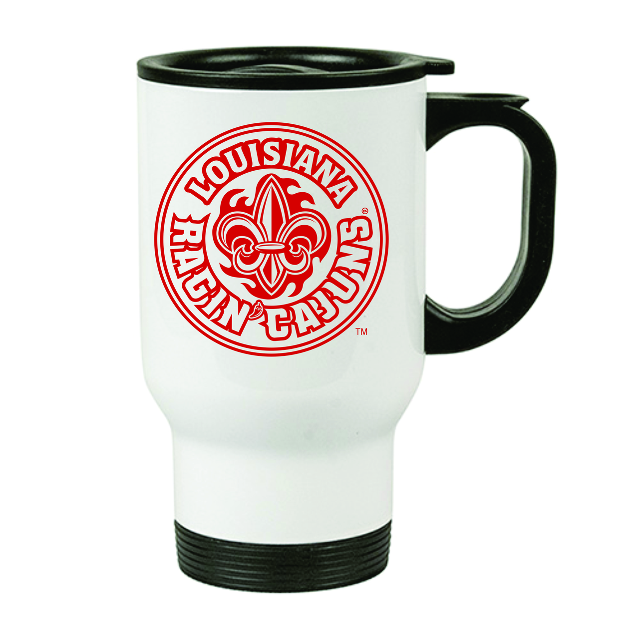 Louisiana Ragin' Cajuns Stainless Steel Travel Mug, 14oz.