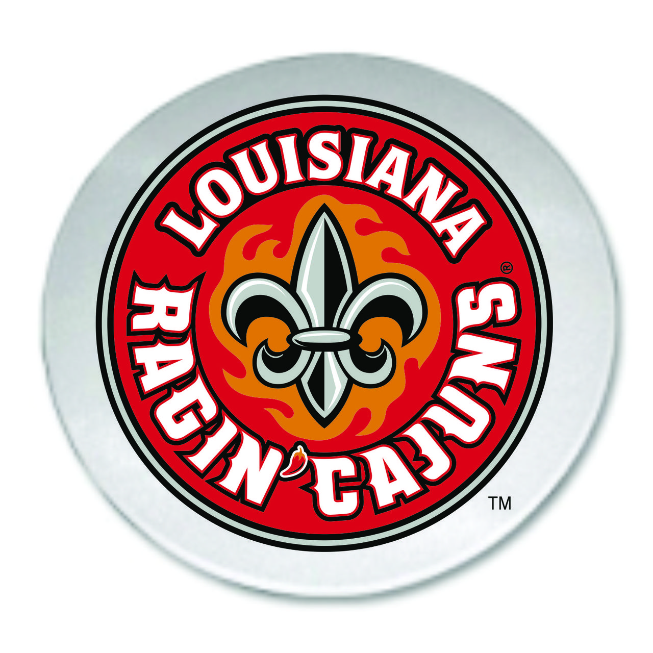 Louisiana Ragin' Cajuns Round Glass Cutting Board, 12