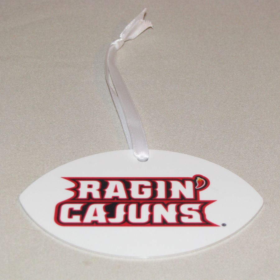 Louisiana Ragin Cajuns Football Ornament