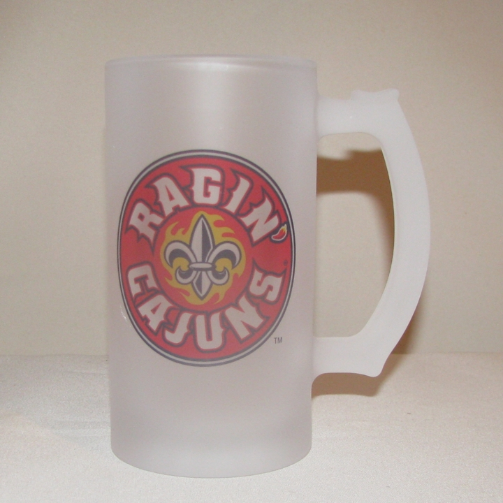 Louisiana Ragin' Cajuns Frosted Beer Mug, 16oz.