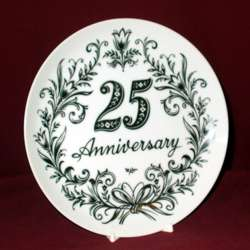 25th Anniversary Plate, 8 1/4