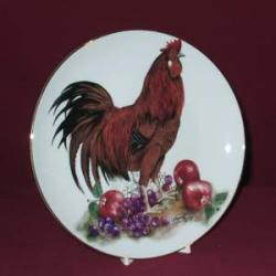 Rooster Decorative Plate, 8