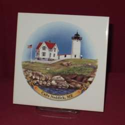 USA Coastal Lighthouse Square Trivet, 6