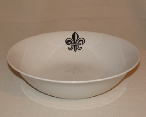 Fleur de Lis Vegetable Bowl