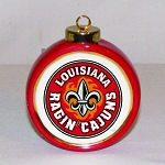 Louisana Ragin' Cajuns Ornament (drum style)