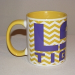 LSU Yellow & White C-Handle Coffee Mug