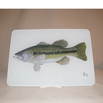 Fish Glass Cutting Board, 10.75
