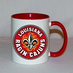 Louisiana Ragin' Cajuns Red & White C-Handle Coffee Mug