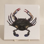 Blue Point Crab Trivet, 4 1/4