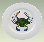 Blue Point Crab Plate, 10 5/8