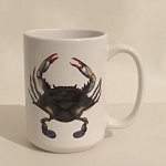 Blue Point Crab Coffee Mug, 15oz.