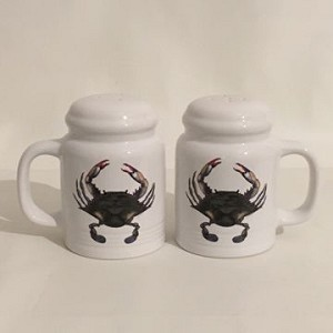 Blue Point Crab Salt & Pepper Shakers (range style)
