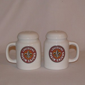 Louisiana Ragin' Cajuns Salt & Pepper Shakers (range style)