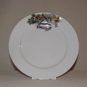 Blue Crab Plate, 7 1/2""