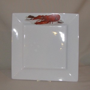 Crawfish / Lobster Square Charger Plate, 12