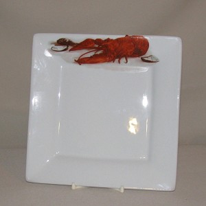 Crawfish / Lobster Square Plate, 7 3/8""