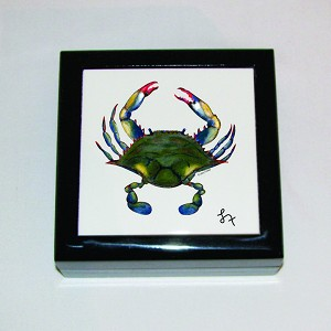 Blue Point Crab Keepsake Box, 5 1/8