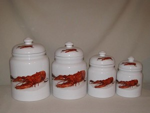 Crawfish / Lobster Canister Set, 4pc.