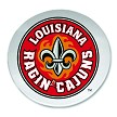 Louisiana Ragin' Cajuns Round Glasss Cutting Board