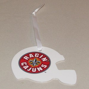 Louisiana Ragin Cajuns Football Helmet Ornament