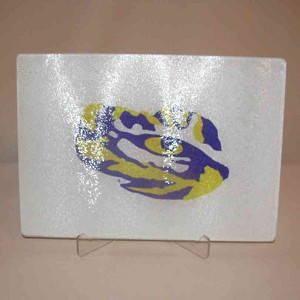"LSU Glass Cutting Board, 15"" X 12"""
