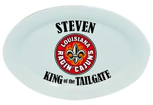 "Louisiana Ragin' Cajuns King of the Tailgate Platter, 14"" - personalized"