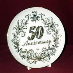 50th Anniversary Plate, 8 1/4
