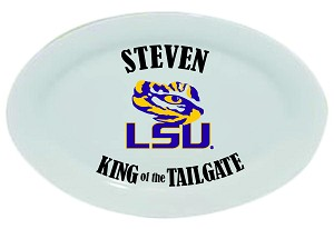 "LSU Tigers King of the Tailgate Platter, 14"" - personalized"