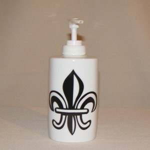 Fleur de Lis Lotion / Soft Soap Bottle